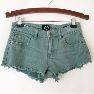 RVCA Hello Mellow cutoff Jean shorts